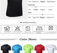 FANNAI Men T Shirt Sport Tops Tees Quick Dry Fitness Gym t shirt Men's Running Shirts Short sleeve Jerseys Sportswear Workout