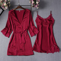Pajamas Sets Women Nightgowns Sexy Ladies Nightwear Women Robe Nighties Sleepwear shorts