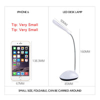 EeeToo Battery Powered Night Light Luminaria LED 360 Degree Rotating Table Lamp Eye Protection Reading Book Lights for Children