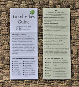 Holistic Natural Organic Vegan Gifts - Gift Good Vibes - Send Good Vibes Send Good Vibes - Wellness Care Package