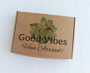 Holistic Natural Organic Vegan Gifts - Gift Good Vibes - Send Good Vibes Christmas Gift Box - Organic Tea & Aromatherapy