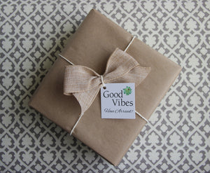 Holistic Natural Organic Vegan Gifts - Gift Good Vibes - Send Good Vibes Holistic Gift Box for Men - Any Occasion - Small Care Package - Mandala