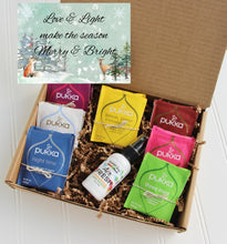 Load image into Gallery viewer, Love and Light Gift Box - Organic Tea & Aromatherapy - Gift Good Vibes
