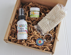 Holistic Natural Organic Vegan Gifts - Gift Good Vibes - Send Good Vibes Holistic Gift Box for Women - Any Occasion - Small - Mandala Card