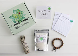 Holistic Natural Organic Vegan Gifts - Gift Good Vibes - Send Good Vibes Sage Send Good Vibes Holistic Gift Box for Women