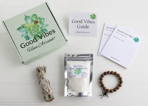 Holistic Natural Organic Vegan Gifts - Gift Good Vibes - Send Good Vibes Sage Soul Sister Gift Box