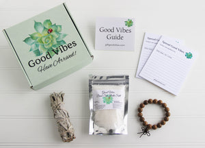 Holistic Natural Organic Vegan Gifts - Gift Good Vibes - Send Good Vibes Sage Get Well Soon Care Package