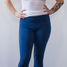 Load image into Gallery viewer, SHLOKA Cotton Legging - Indigo