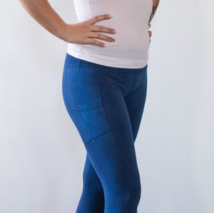 SHLOKA Cotton Legging - Indigo