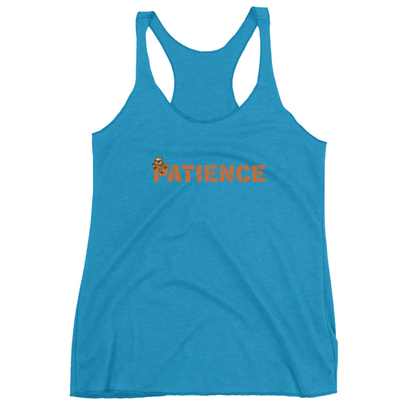 Sloth Patience, Women's Racerback Tank