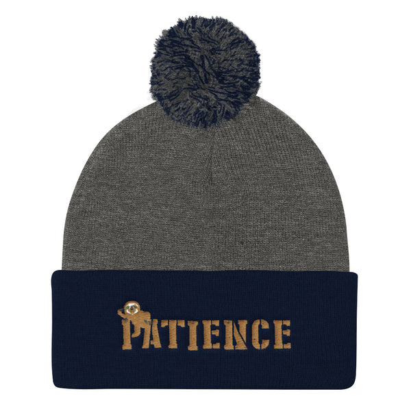 Sloth Patience, Pom Pom Knit Cap