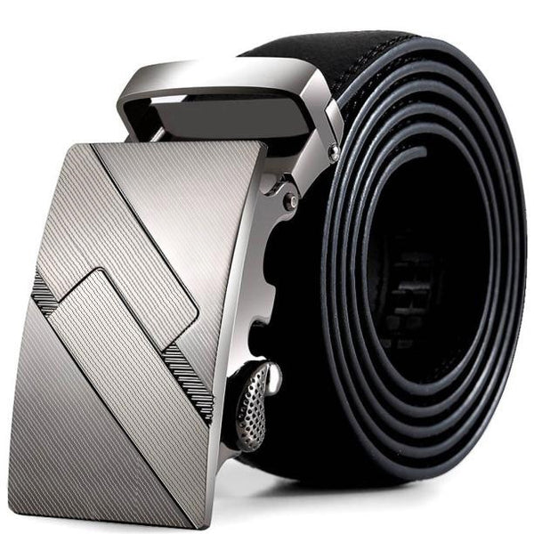 New Designer Men's Belts Luxury Fashion Genuine Leather Cowskin Belt for Men High Quality Automatic Buckle Male Waist Strap#1.1