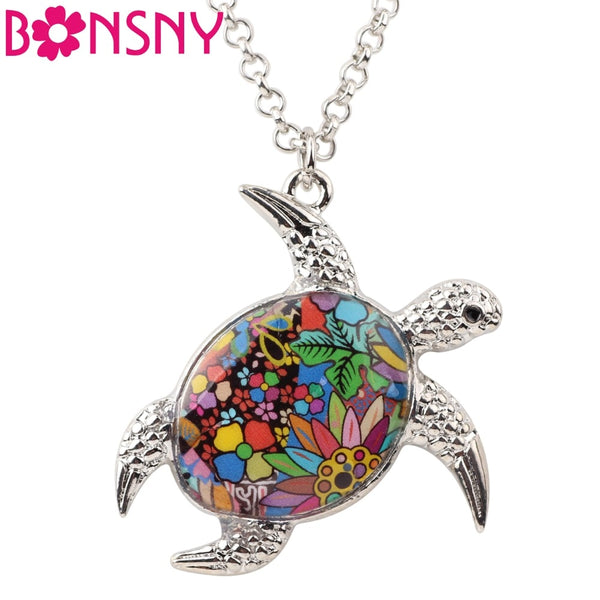 Turtle Necklace Choker Chain