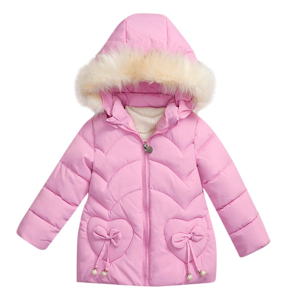 ARLONEET Autumn Winter kids Baby Cotton Padded Coat Jacket 2019 Cute Girls Boys Heart Type Warm Outwear Clothes Winter Jackets