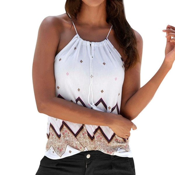Women Loose Sleeveless halter top