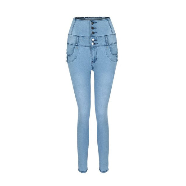 Women High Waist Skinny Denim Jeans Stretch