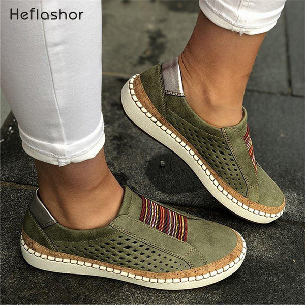 HEFLASHOR 2019 Breathable Women Shoes White Women Casual Shoes Fashion Mesh Women Sneakers Flats -up Torridity