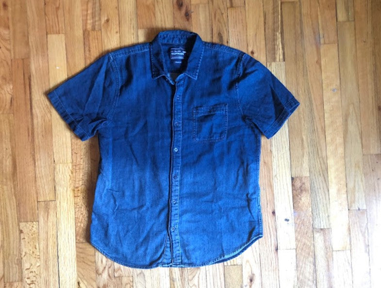 Denim Faded Button Down L