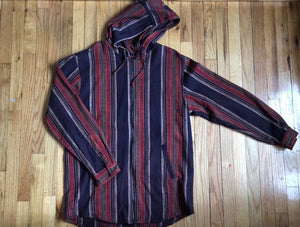 Striped Lightweight Zip Up XL