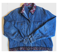 Lightweight Denim Jacket Vintage Details XL