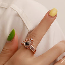 "Load image into Gallery viewer, 100 LANGUAGES ""I LOVE YOU"" RING AND NECKLACE"
