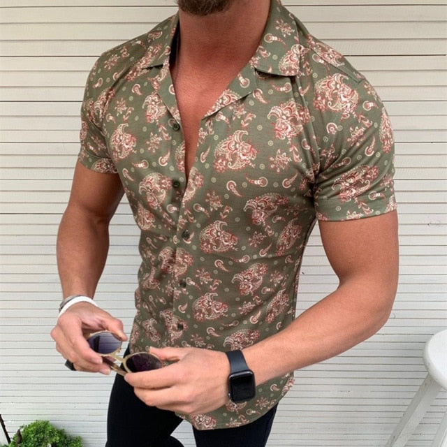 New Men's Floral Shirt