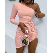 Load image into Gallery viewer, Off Shoulder Bodycon Dress