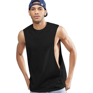 Tall sleeveless t-shirt with extreme dropped armhole