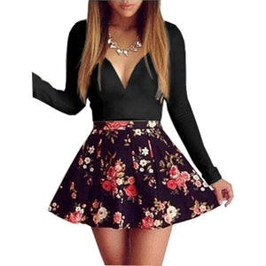 Floral patchwork Mini Dress