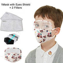 Load image into Gallery viewer, Children's Activated Carbon Filter Face Masks