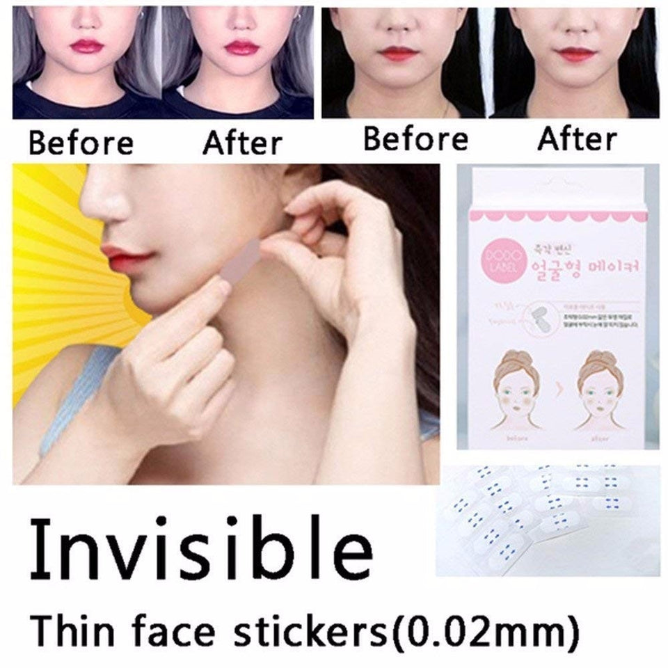 40 Pcs/Set Invisible Thin Face Lift Stickers