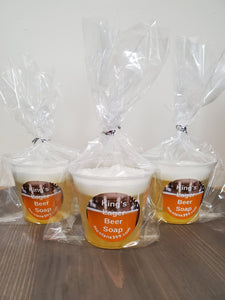 King's Lager beer soap in a cup