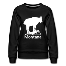 Load image into Gallery viewer, Mountain Goat Montana Women's Premium Sweatshirt - Tortugas Gear