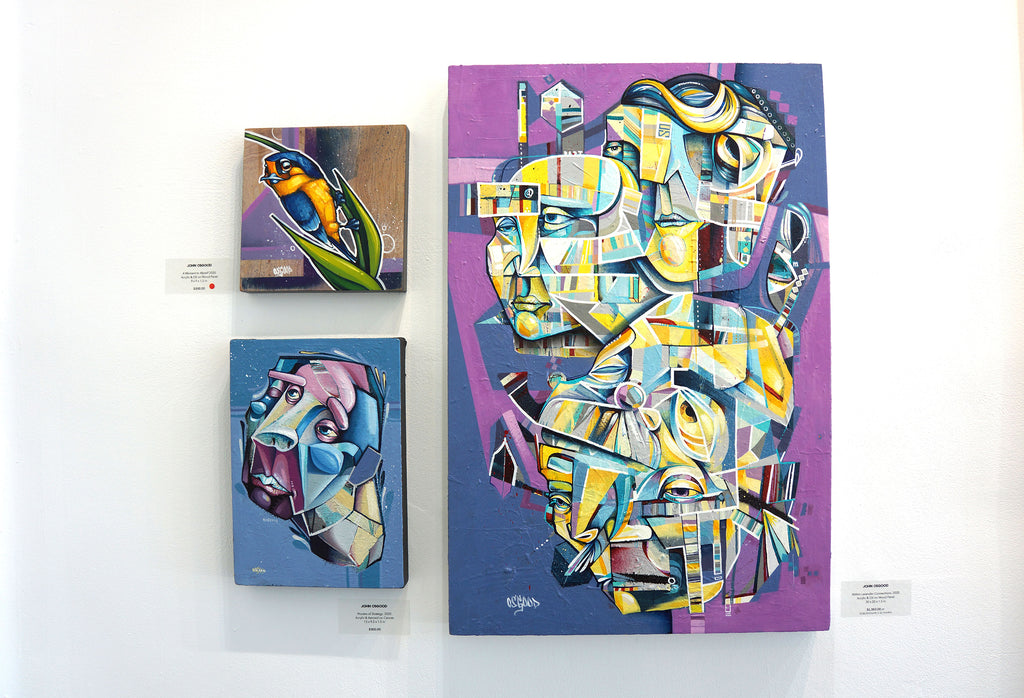 "John Osgood ""In Plain Sight"" Exhibition at Voss Gallery San Francisco - Cubist Surreal Paintings"