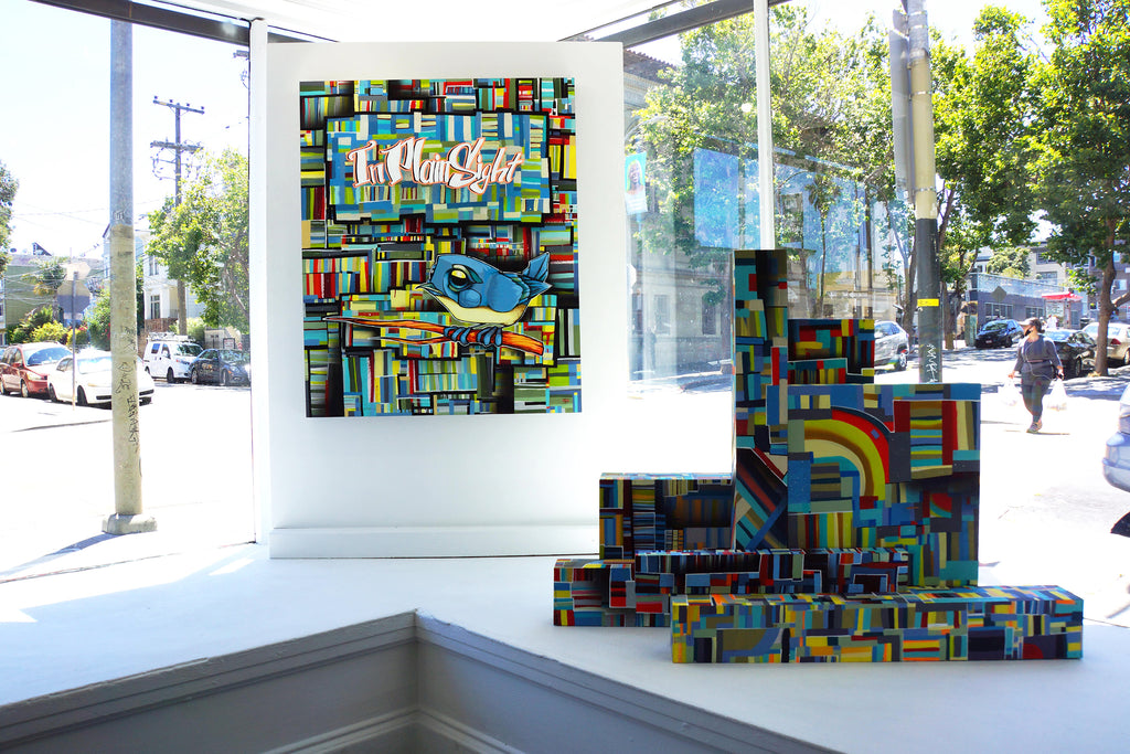 "John Osgood ""In Plain Sight"" Exhibition at Voss Gallery San Francisco - Front Window"