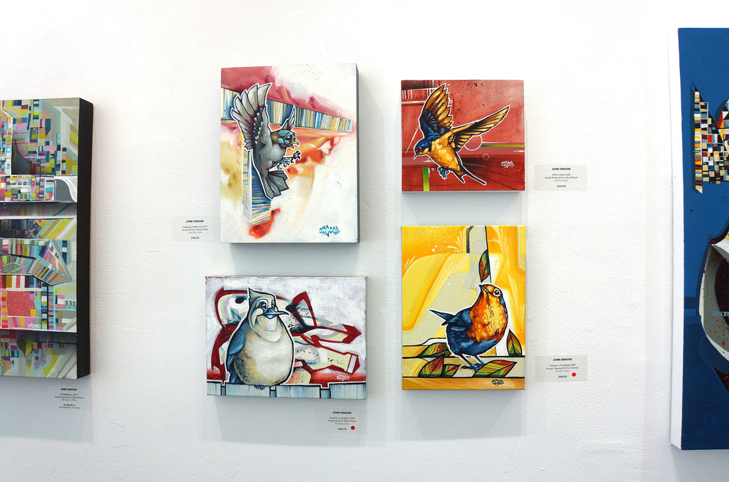 "John Osgood ""In Plain Sight"" Exhibition at Voss Gallery San Francisco - Bird Paintings"