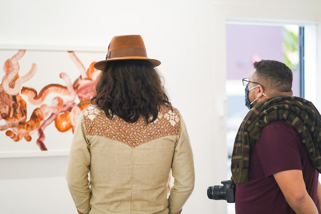 Photograph from Gale Hart's VIP Collectors event at Voss Gallery, San Francisco in March 2021.