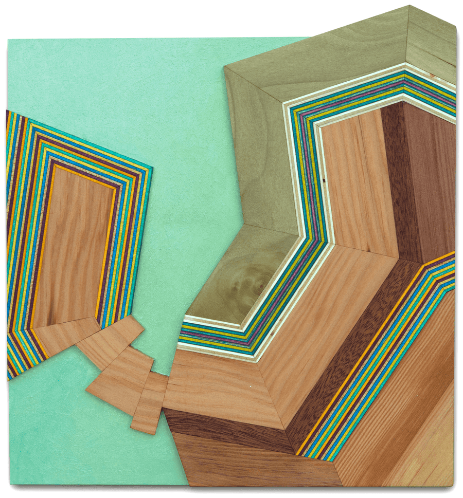 Alexandra Cicorschi's abstract wood wall art