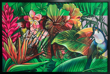 Amandalynn's street art-inspired tropical painting