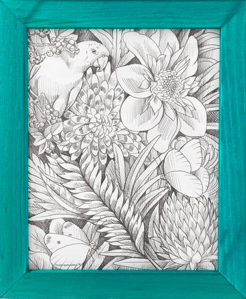 Amandalynn's street art-inspired tropical illustration