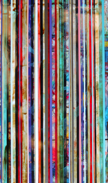 David Samuels' abstract expressionist resin artwork