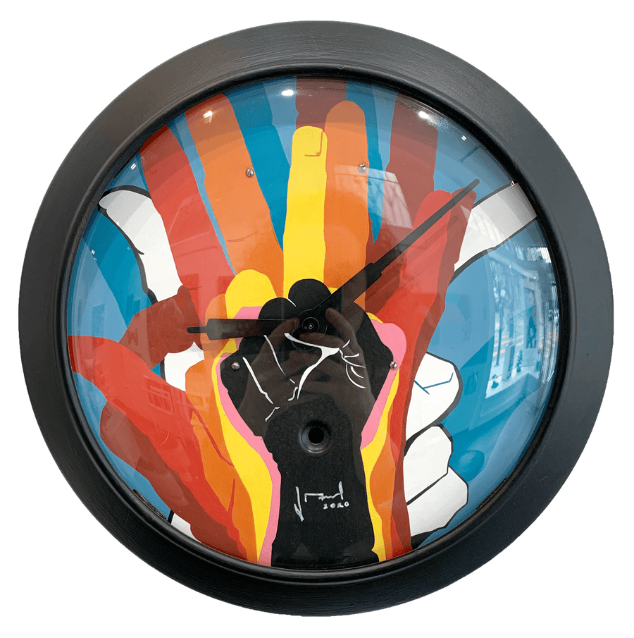 J Manuel Carmona's painted clock