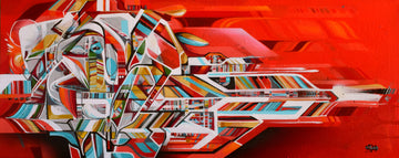 John Osgood's red urban contemporary painting