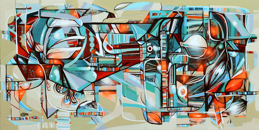 John Osgood urban abstract painting titled