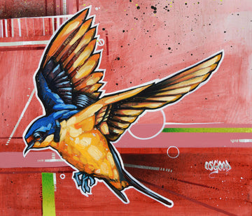 John Osgood's urban painting of a bird