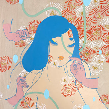 Maya Fuji's contemporary illustration painting