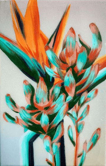 Natalie Gabriel's birds of paradise flower painting
