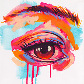 The Tracy Piper's acrylic painting of an eye