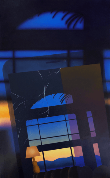 Tim Irani's post-analog painting of a window