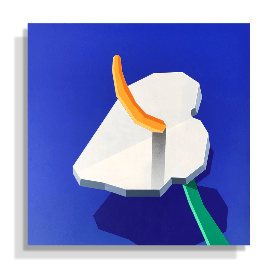 Tim Irani's post-analog painting of a lily at a specific time of the day